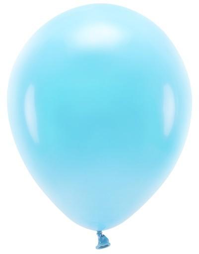 100 ballons éco pastel bleu bébé 26cm