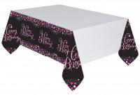 Pink Happy Birthday Tischdecke 2,59 x 1,37m