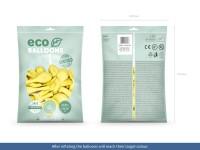 100 Eco Pastell Ballons zitronengelb 26cm