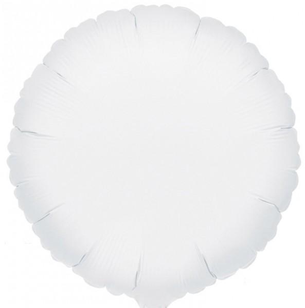 Globo foil blanco 45cm