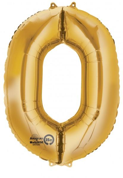 Balon numer 0 złoty 88 cm