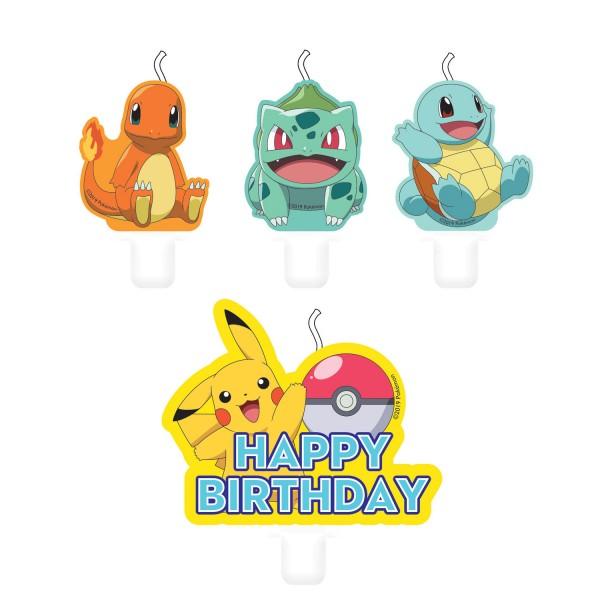 4 bougies à gâteau Pokémon Master