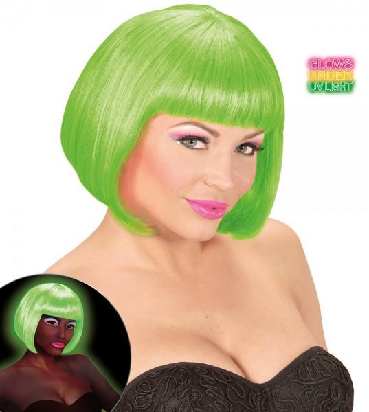 Neon-Grüne Party Perücke Chiara