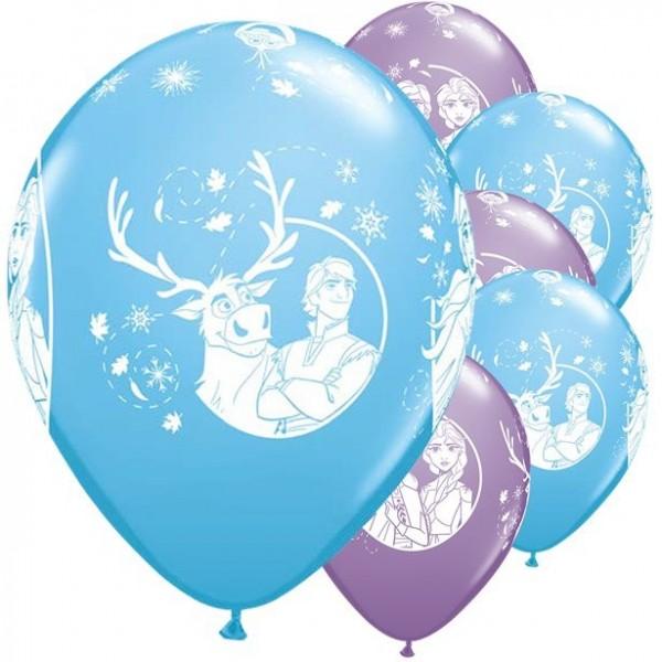 6 Frozen Luftballons Arendelle 30cm