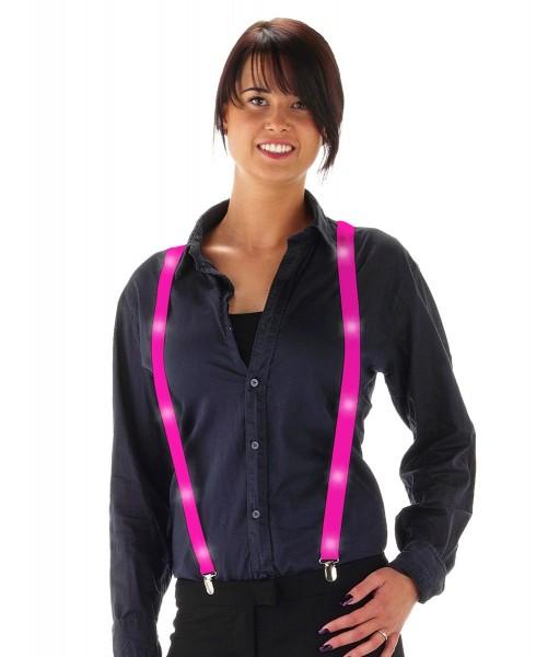 LED Deluxe Hosenträger Pink