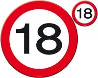 Verkehrsschild 18 Tischset 8-teilig