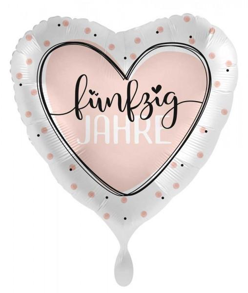 50. Geburtstag Ballon Shiny Heart 45cm