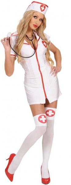 Weiß-Rote Krankenschwester Strümpfe
