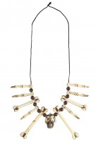 Totenkopf Halskette mit Knochen