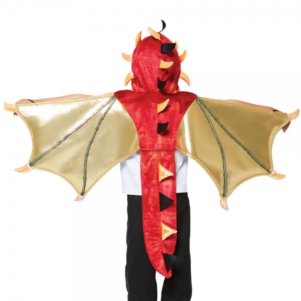Drachenumhang mit Kapuze für Kinder