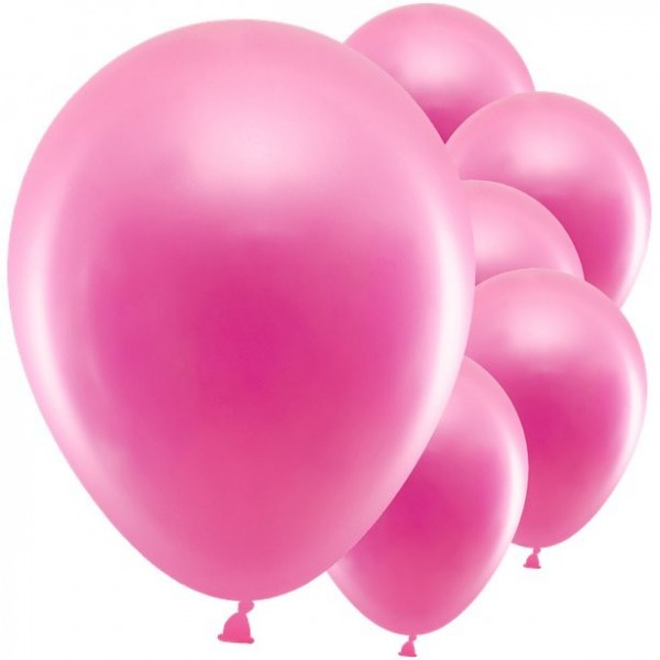 10 Partyhit metallic Ballons rosa 30cm