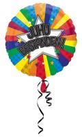 Bunter Juhu bestanden Folienballon 43cm