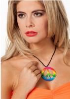 Peace Regenbogen Halskette