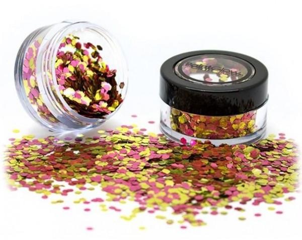 Paillettes d'or-rose compostables 3g
