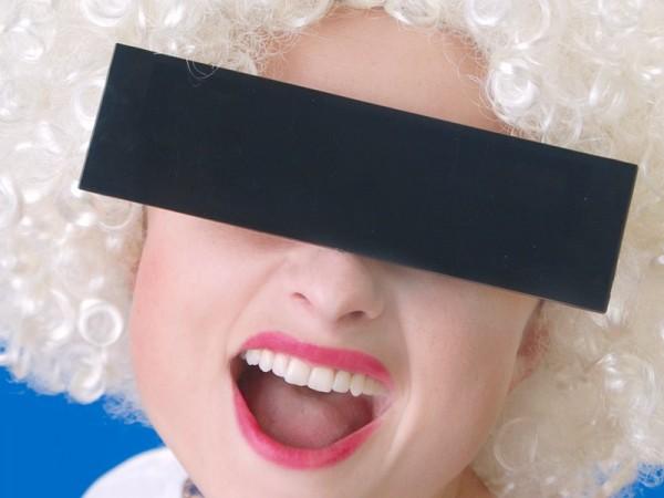 Schwarze Zensurbalken Spaßbrille