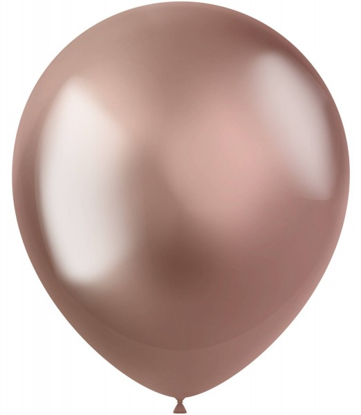 50 Shiny Star Luftballons roségold 33cm