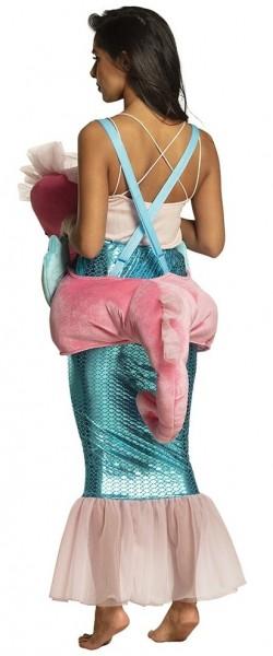Seepferdchen Reiterin Mermaid Damenkostüm