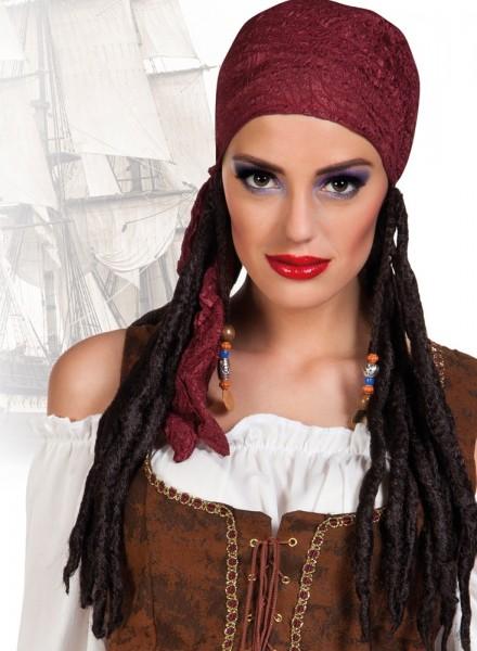 Dreadlocks Mit Kopftuch Piratinnen Damenperücke