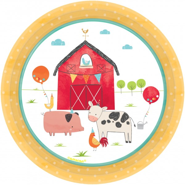 8 Piatto Happy Farm Life 18 cm