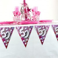 All about my 50th Birthday Wimpelkette 4m