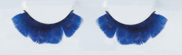 Blaue Valentina Feder Wimpern