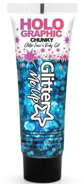 Gel glitter corporel bleu 12ml