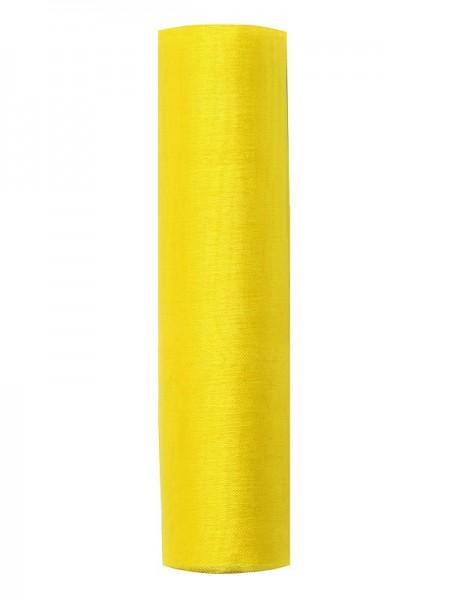 Materiał organza Julie żółty 9m x 16cm