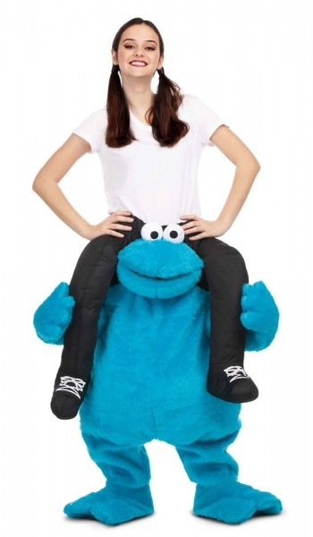 Huckepack Krümelmonster Kostüm für Erwachsene