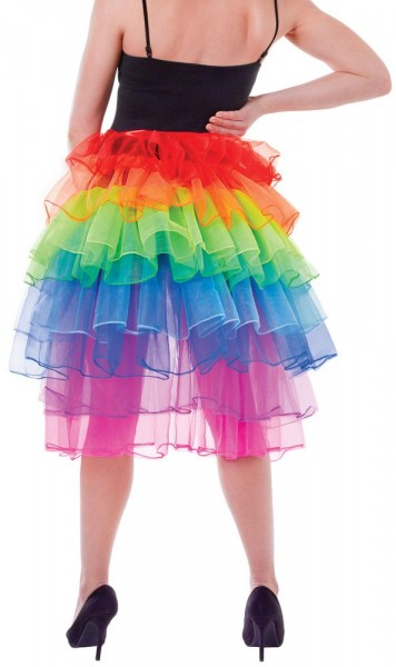 Tulle jupe train arc-en-ciel