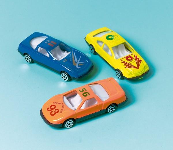 Partyspaß Spielzeug Autos Rasende Flitzer 12 Stück