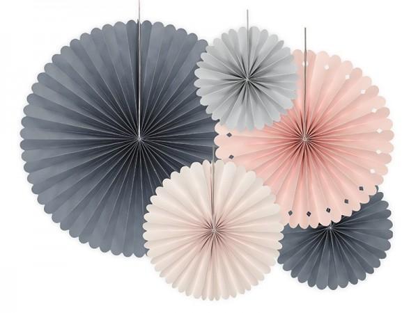 5 rosetones de papel Royal Blossom