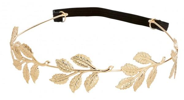 Goldenes Lorbeerkranz Haarband
