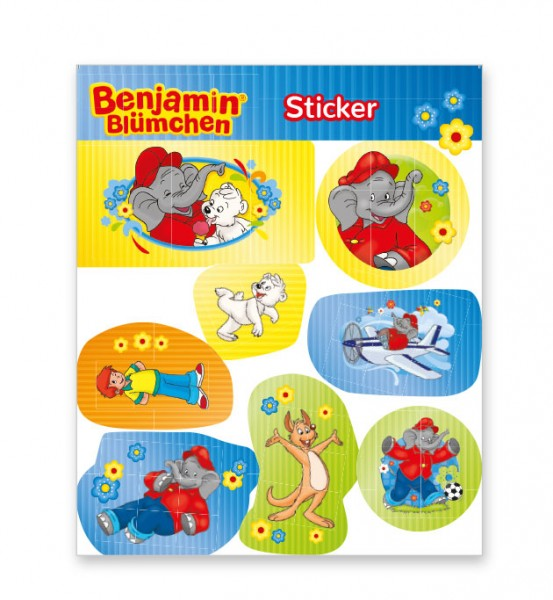 Benjamin Blümchen Sticker Bogen
