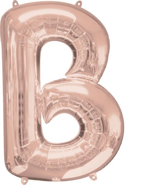 Buchstaben Folienballon B Rosegold 1