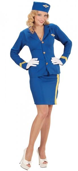 Flugbegleiterin Samantha Damenkostüm