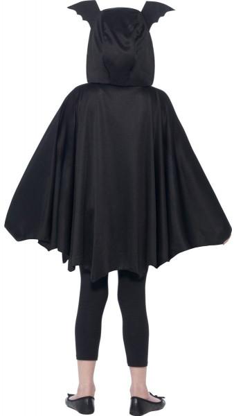 Mantellina da pipistrello con cappuccio per bambino