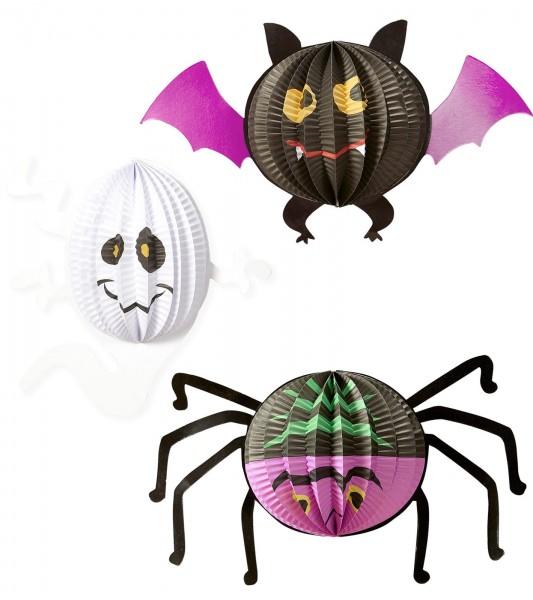 Set of 3 Monster Party Lanterns