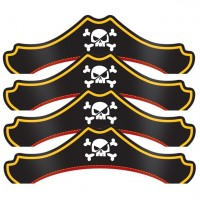 8 Piraten Crew Partyhüte
