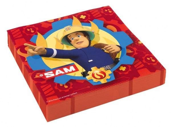 20 Feuerwehrmann Sam SOS Servietten 33cm
