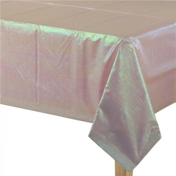 Irisierende Tischdecke 2-lagig pink 1,3m x 2,7m