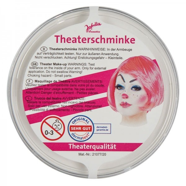 Maquillage de théâtre professionnel blanc