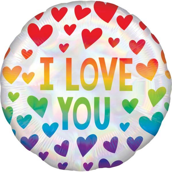 Rainbow Love folie ballon 43cm