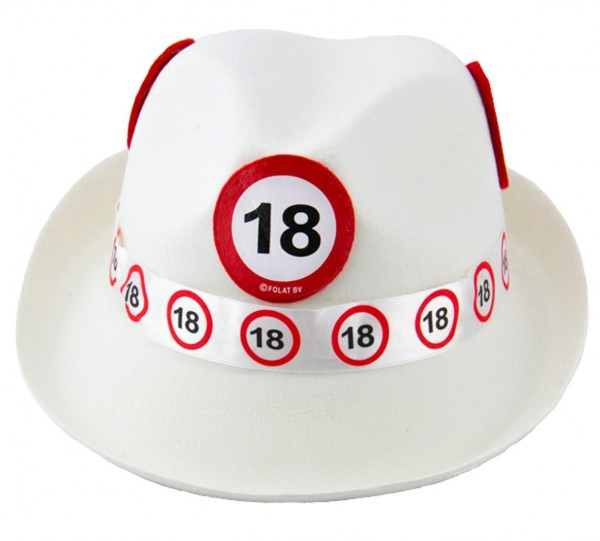 Traffic sign 18 felt hat