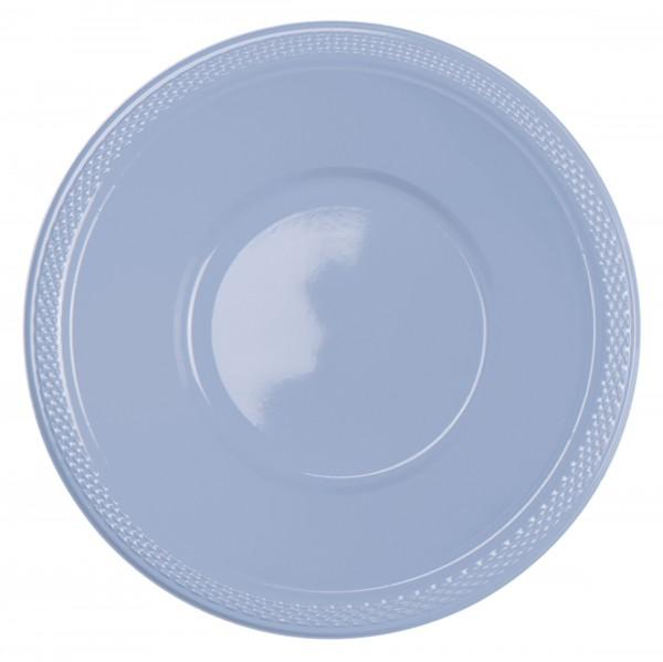10 plastic bakjes pastelblauw 355ml