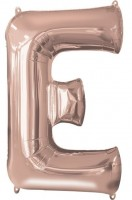 Buchstabe E Folienballon roségold 41cm