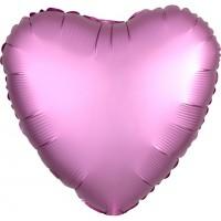 Folienballon Herz Satinoptik rosa