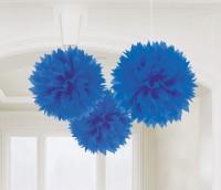 3 Romance Pompons königsblau