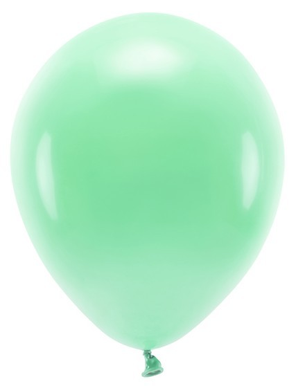 100 eco pastel balloons mint green 30cm