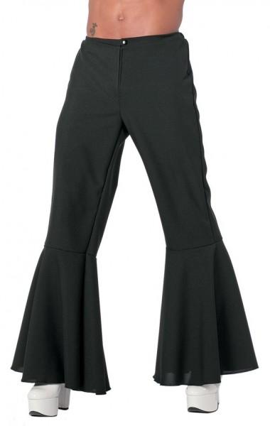 Pantalon évasé noir pour homme