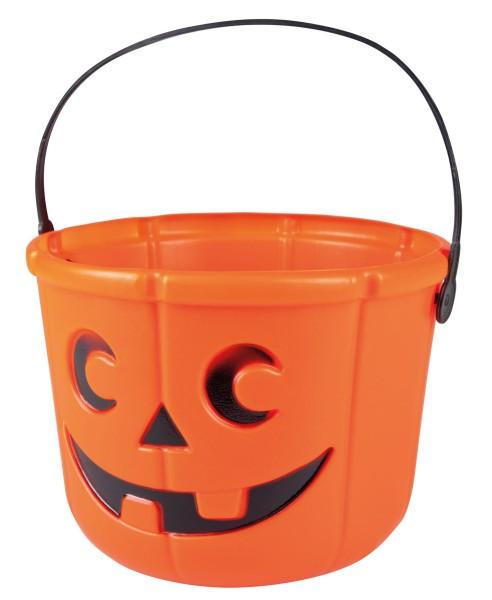 Frecher Kürbis Eimer Für Halloween